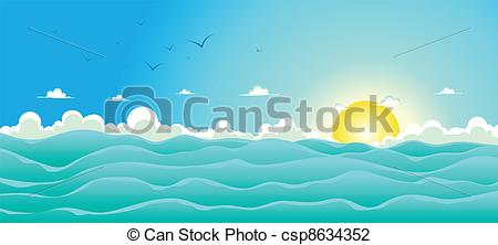 Background clipart ocean  Ocean Illustration of Background