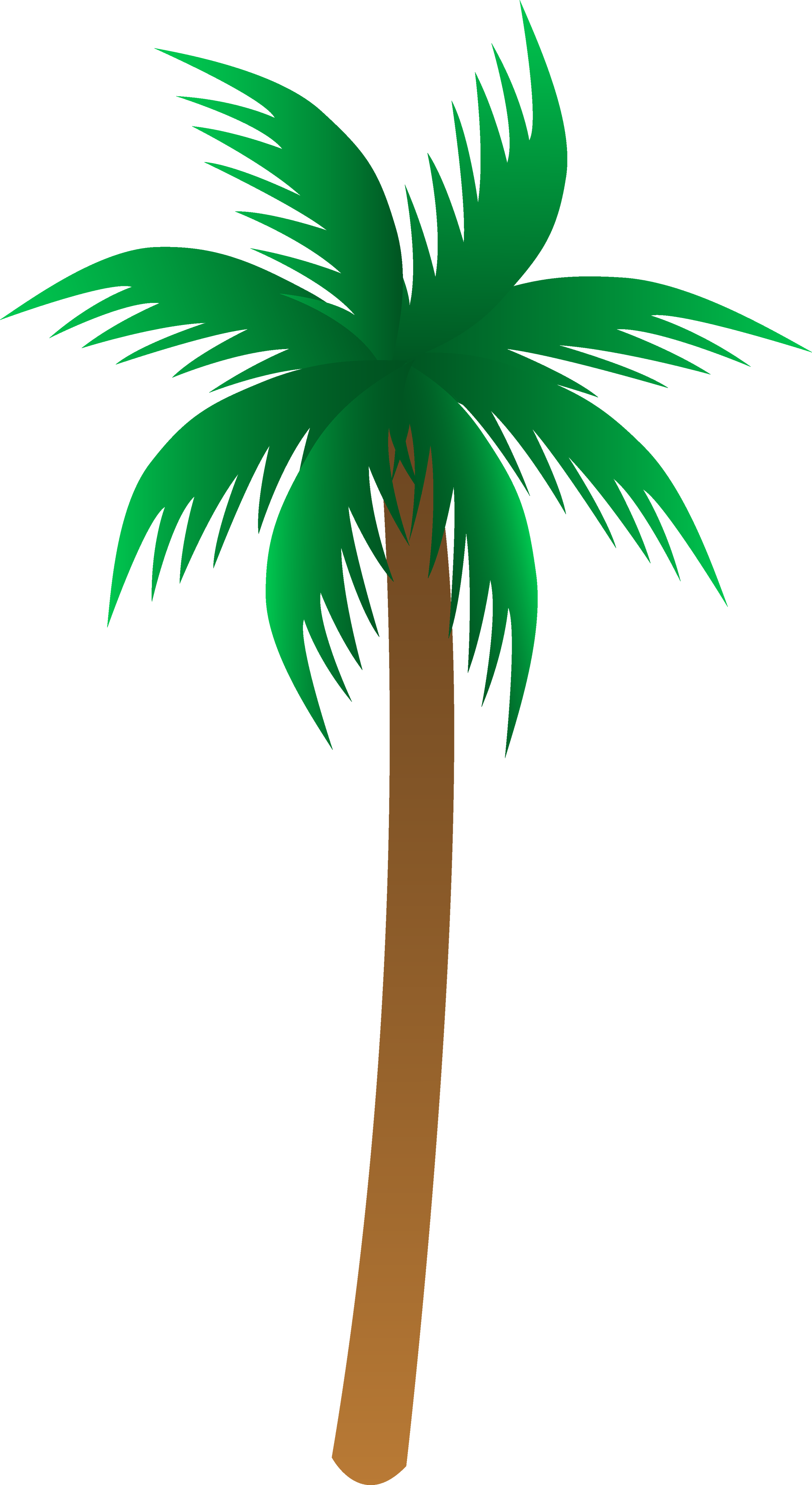 Palm Tree clipart isolated Free  Clip Tree Transparent