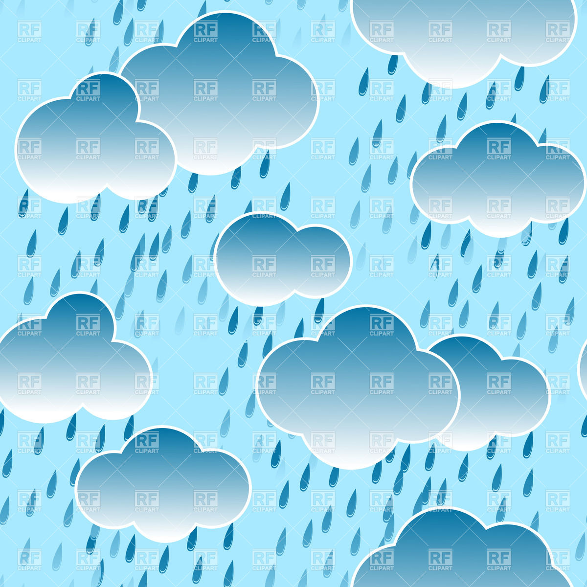 Background clipart rainy Vector clouds sky collection seamless