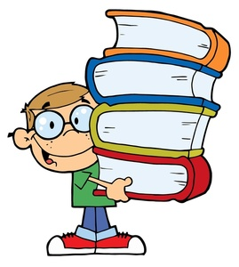 Background clipart student Clipart clipart books carrying Student