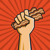 Bacon clipart egg roll · bacon Clip GoGraph Free