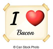 Bacon clipart character 309 love and bacon Illustration