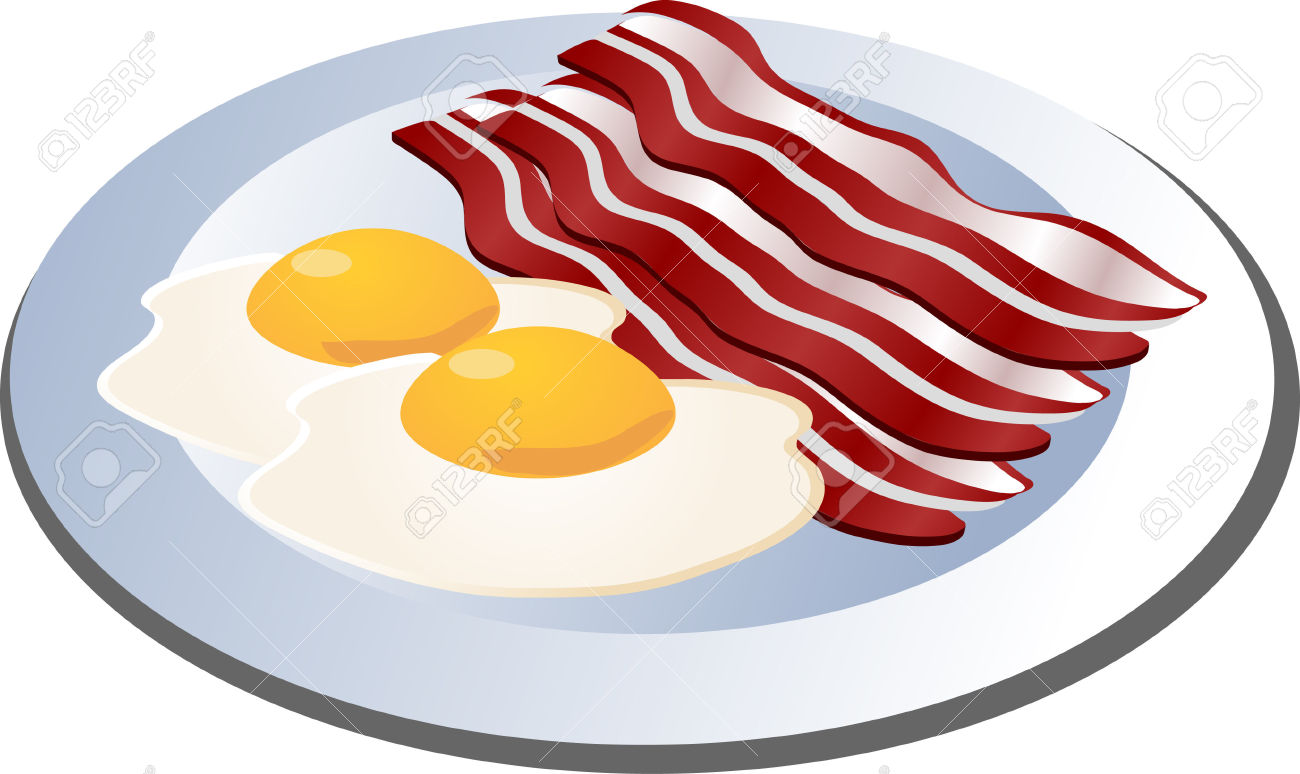 Bacon clipart animated  Bacon Clipart Eggs And