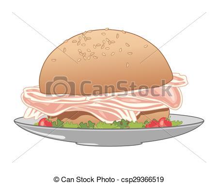 Bacon clipart bacon sandwich Vector Vector vector a eps