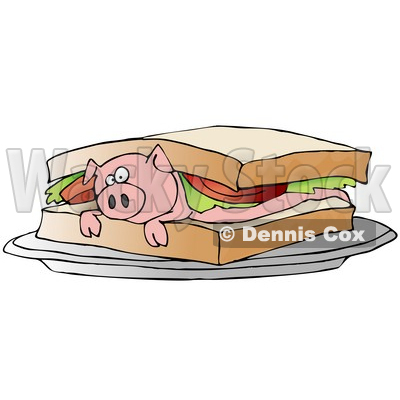 Bacon clipart bacon sandwich On Pink sandwich Bacon collection