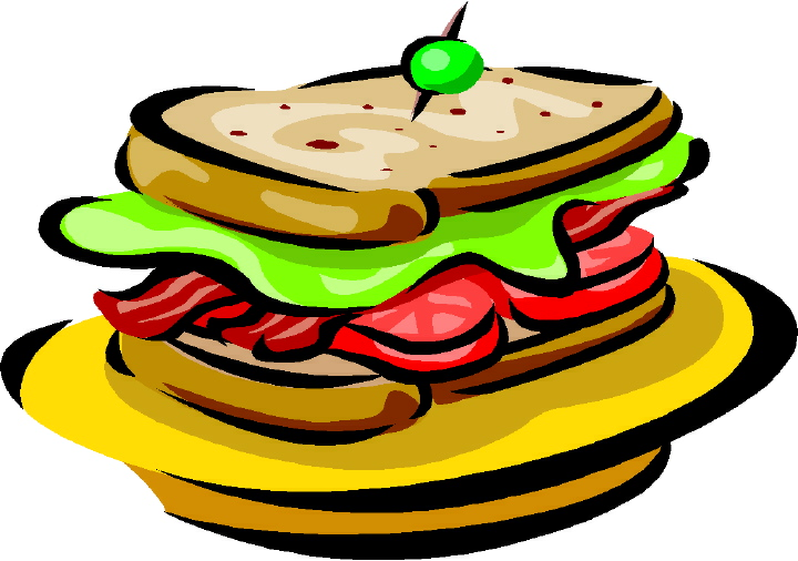 Steak clipart plate food Art Art Sandwich Bacon Clip