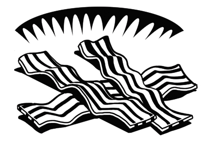 Bacon clipart black and white Bacon Silhouette Google and Pinterest