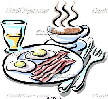 Coffee clipart breakfast Panda with of bacon Images
