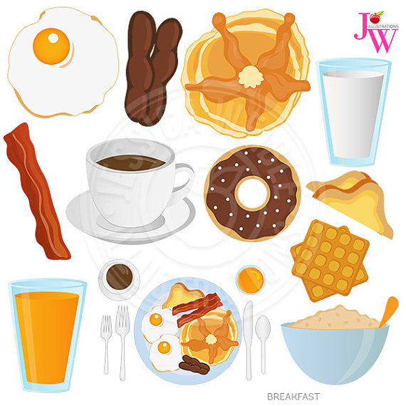 Breakfast clipart meal Clipart Breakfast Clip Digital Donut