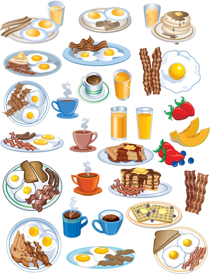 Juice clipart pineapple juice Clipart of breakfast breakfast of