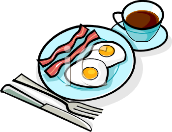 Coffee clipart breakfast Coffee Bacon Clipart and Image