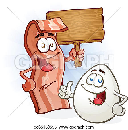 Bacon clipart cartoon With  Bacon and egg