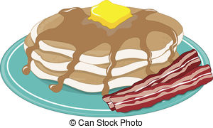 Bacon clipart drawn And Illustrations Stock Pancakes of