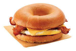 Bacon clipart egg and cheese Breakfast & Donuts Dunkin' Donuts