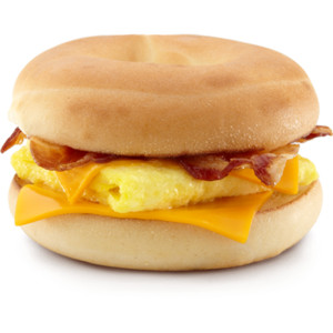 Bacon clipart egg and cheese McDonalds Bagel Egg Cheese Bacon