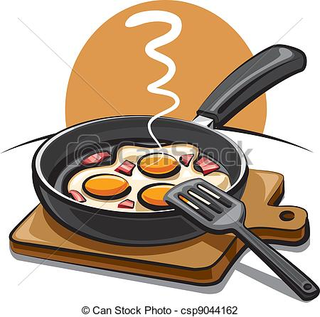 Fried Egg clipart itlog Vector bacon bacon fried with