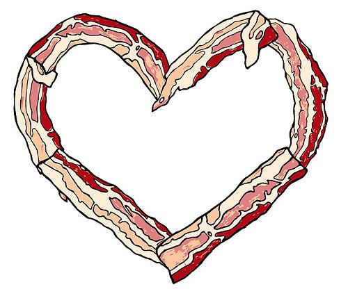 Bacon clipart heart Baco… vegetarian heart robotkasten you