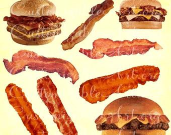 Bacon clipart heart Tiara Images Art Bacon Clipart