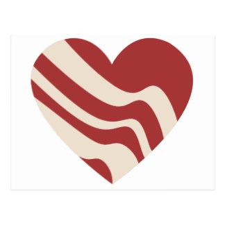 Bacon clipart heart Postcards Bacon Heart Heart Postcard