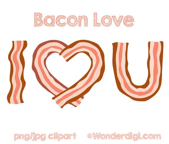 Bacon clipart heart Bacon love Bacon I Clipart