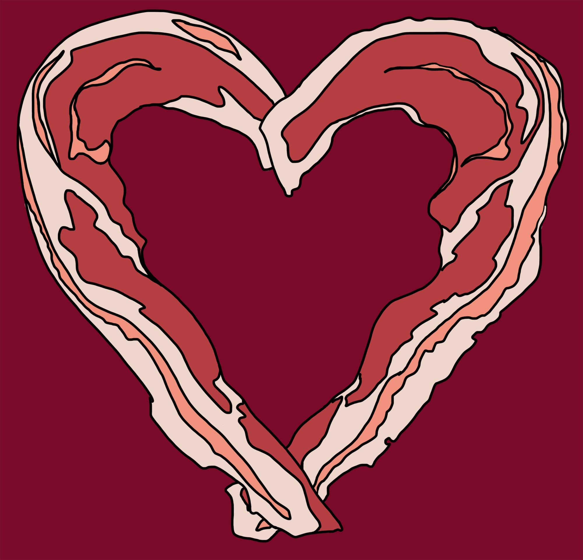 Bacon clipart heart Shirt Closet Woot Stalker Baconlove