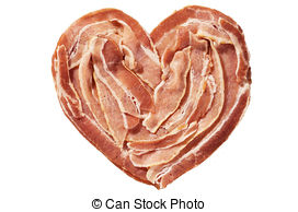 Bacon clipart heart  of Stock Images Bacon