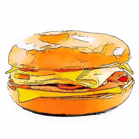 Bacon clipart mcdonalds Breakfast Bagel McDonald's (Meal) Cheese