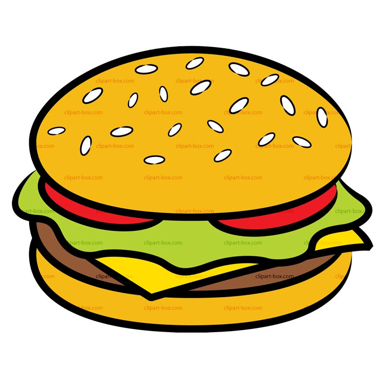 Burger clipart drawn Free Free Domain Public Public