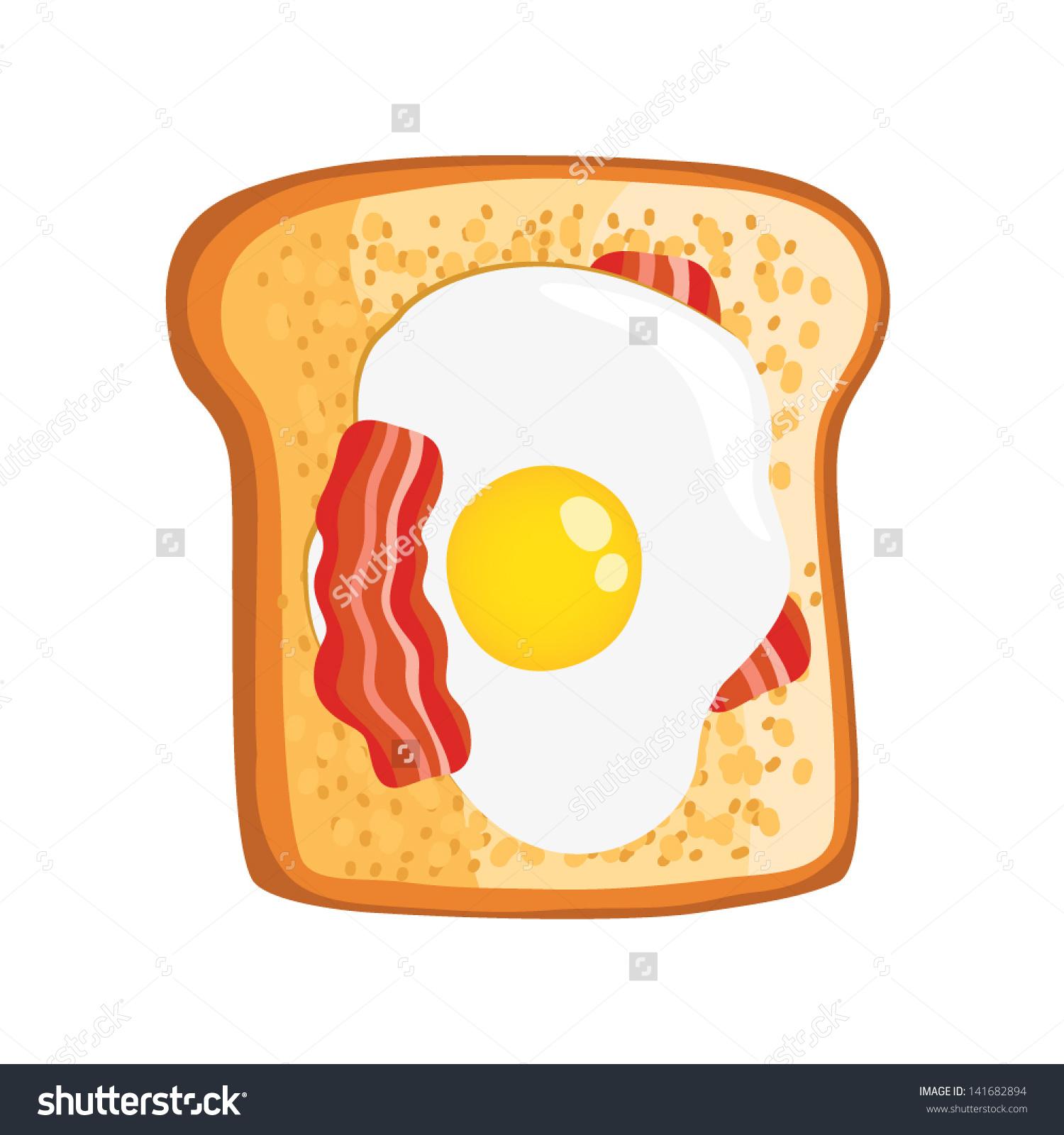 Fried Egg clipart free breakfast Fried Bacon sandwich Bacon Cartoon