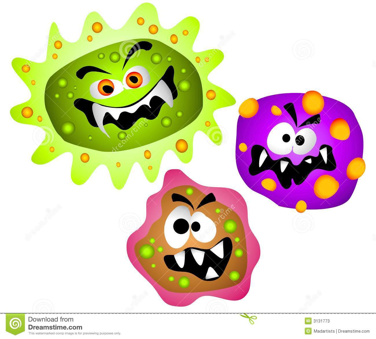 Bacteria clipart Clipart cliparts Infection Bacteria Art
