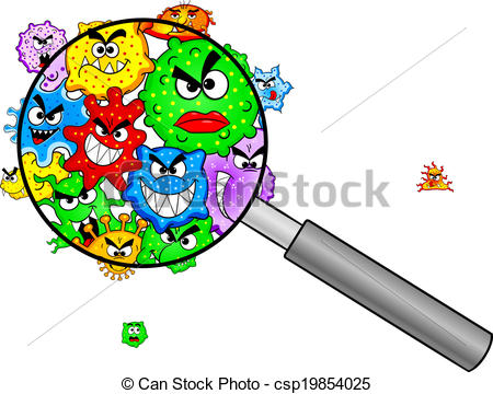 Bacteria clipart A vector glass of 17