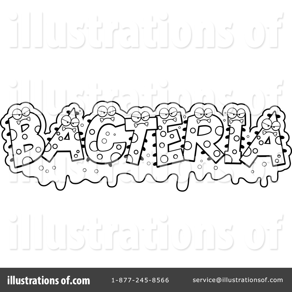 Bacteria clipart word Royalty #1230168 by Illustration Bacteria