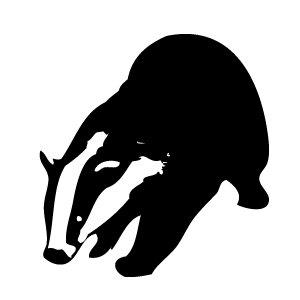 Honey Badger clipart sad #11