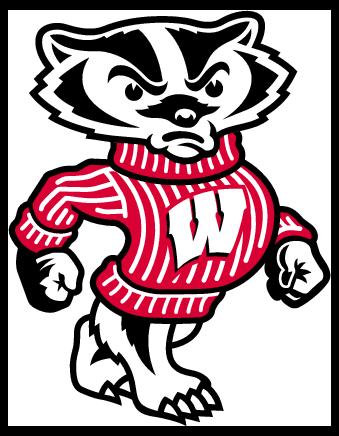 Badger clipart mascot Com free Badgers Wisconsin Wisconsin