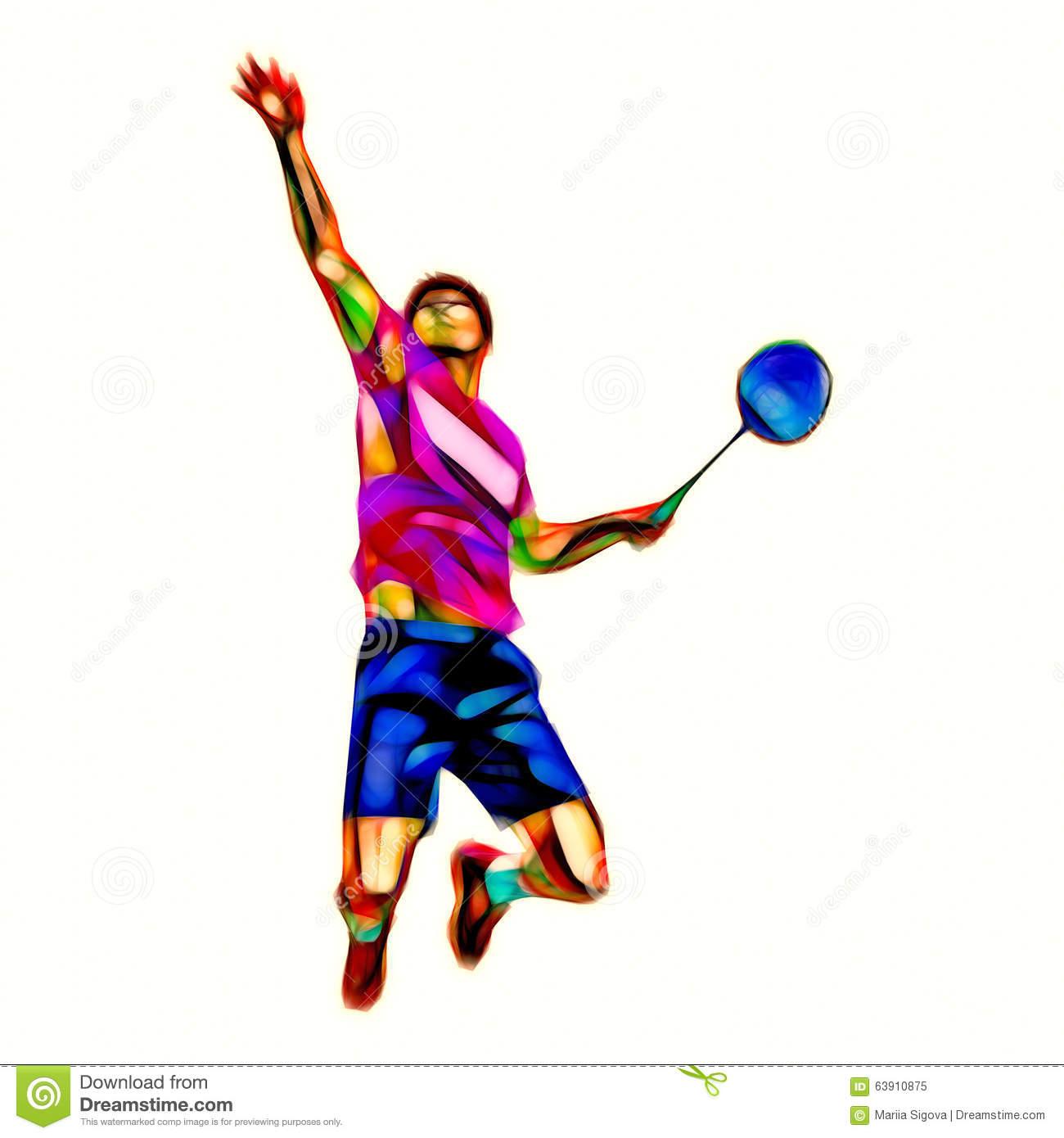 Badminton Smash Clipart Smash – Stock Badminton Illustrations