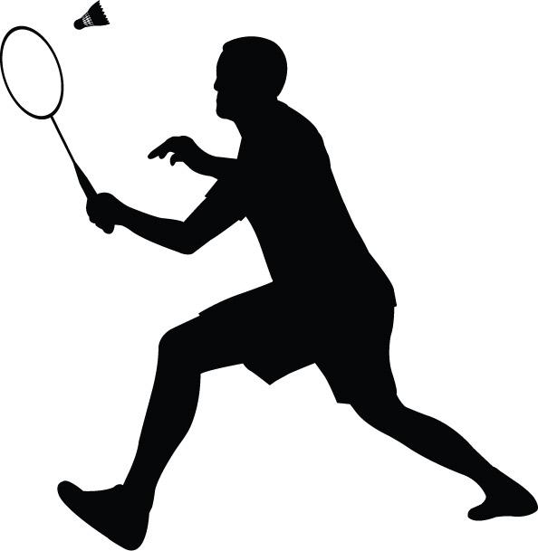 Smash clipart Smack Clipart Player Badminton art Clip Art