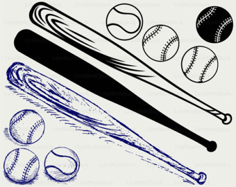 Baseball Bat clipart ball Ball Etsy clipart svg silhouette