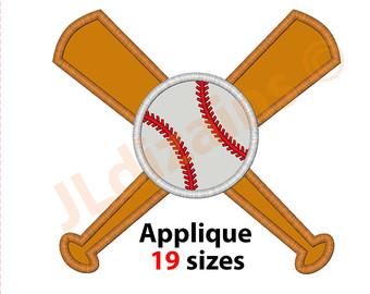 Baseball Bat clipart ball Embroidery bat design bat Applique