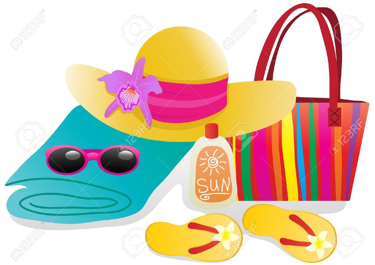 Vacation clipart beach bag Beach Clipart Summer  Bag