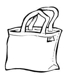 Bag clipart black and white Tote Bag Art Clipart