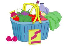Bag clipart grocery basket Graphics fruit basket Size: for