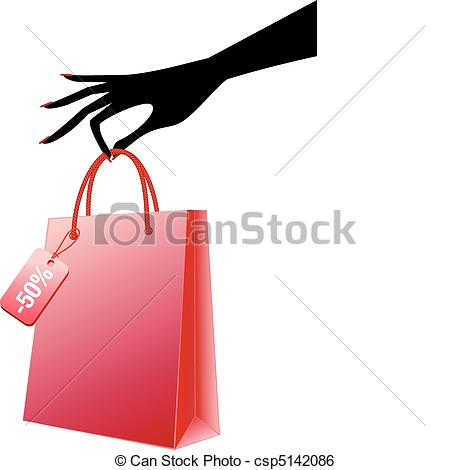 Bag clipart hand holding Hand of vector with Art