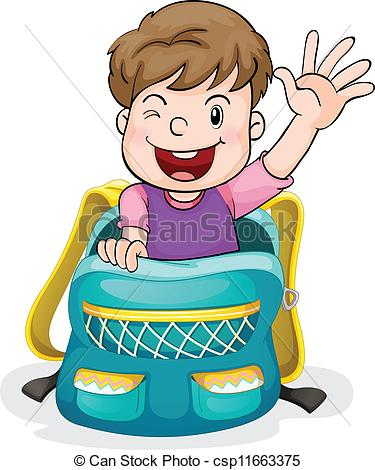 Bag clipart pack bag A bag of the boy