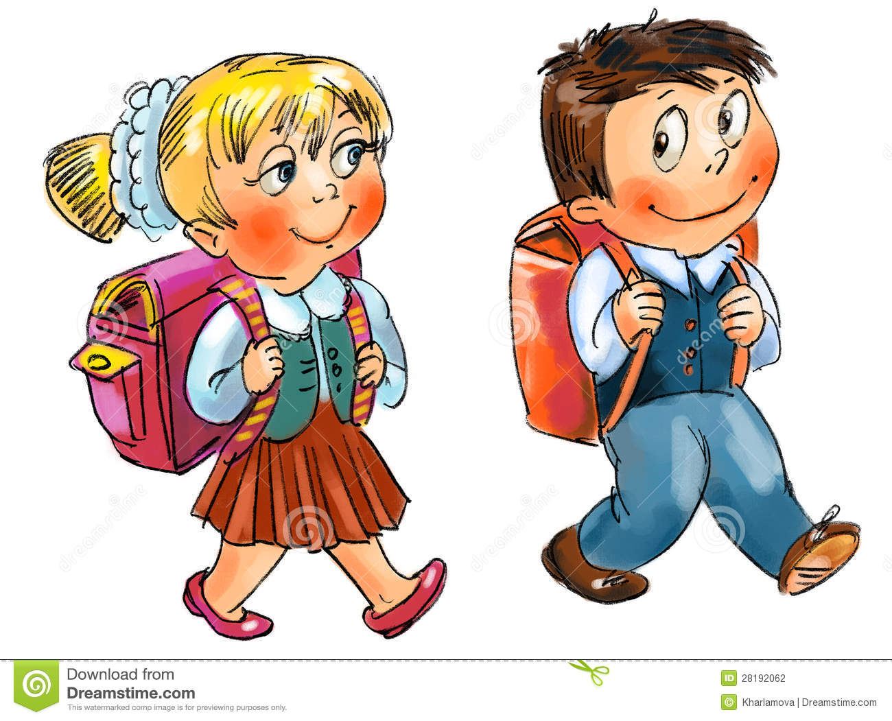 Bag clipart primary school Clipart Clipart Going Going Boy