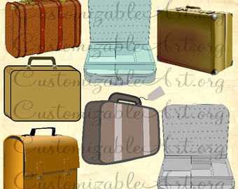 Bag clipart rectangle Clipart Travel Briefcase Etsy clipart