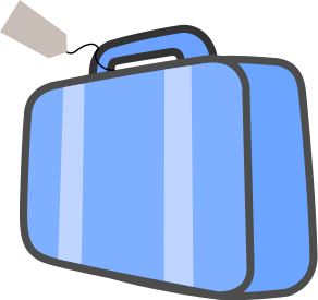 Bag clipart rectangle W Luggage Cyan Ticket Bag