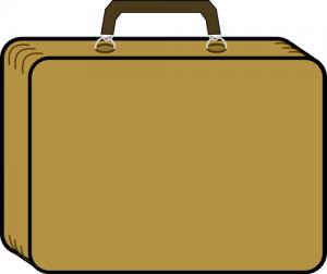 Bag clipart rectangle Suitcase Art Clip Luggage Tan