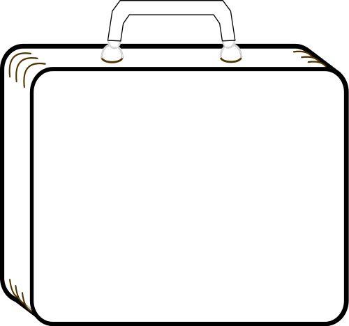 Bag clipart rectangle Outline Pinterest best 842 suitcase