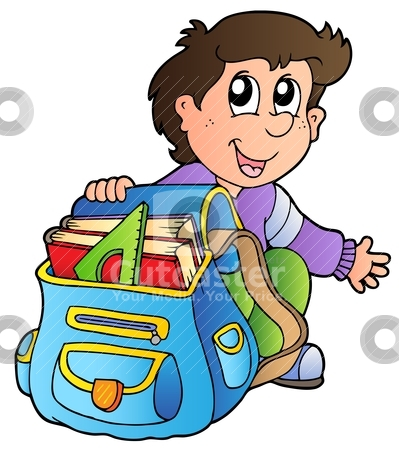Bag clipart school library Free  Art Download with