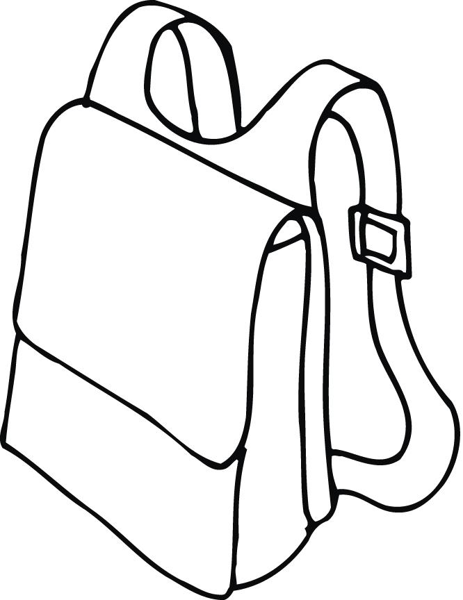 Bag clipart school outline And clipart outline white clipart